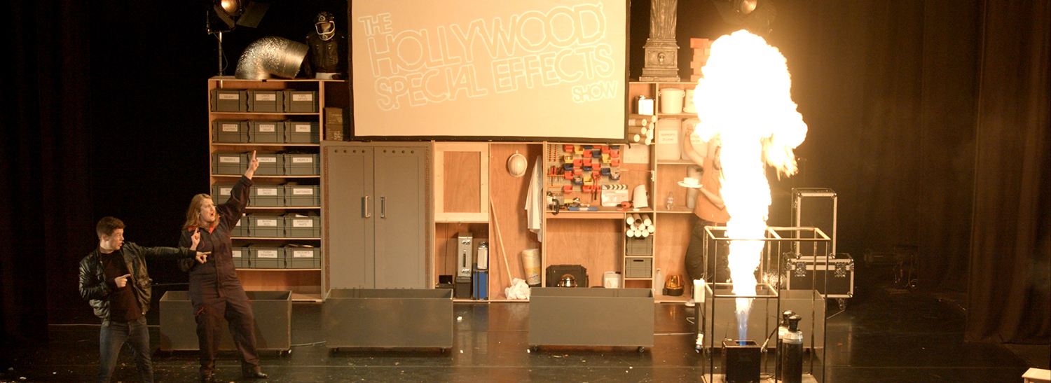 Trailer for the touring production of the Hollywood Special Effects Show - explosions, shoot-outs, fights and more!