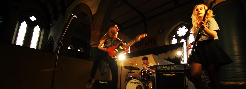 Hard-rocking, riff-smashing, drum-pounding, fast-cutting, super-slow motion packing debut music video from EBG!